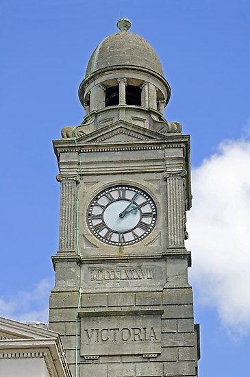 The Guild Hall Clock Tower, Newport by Rod Johnson