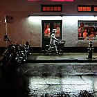 Silver Man on Bourbon Street  by UncleBug