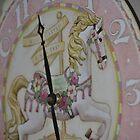 Carousel Horse Clock by Nicole Jeffery