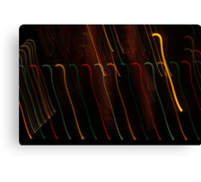 Suburb Christmas Light Series - Colour Canes Canvas Print
