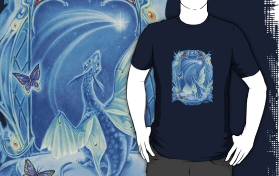 Wishing on a Star baby Dragon fantasy t shirt by meredithdillman