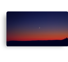 Twilight Waxing Crescent Zone Canvas Print
