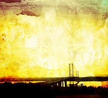 Forth Road Bridge, Edinburgh by Malgorzata Larys