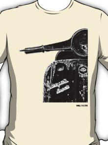 Vespa Super 1960 Piaggio front black T-Shirt