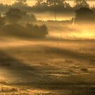 - September morning over water meadows by Christopher Cullen