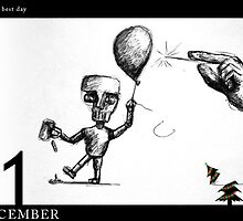 December 1st - Not the best day by 365 Notepads -  School of Faces