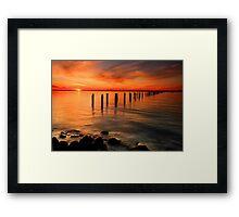 Clifton Springs Sunset - Clifton Springs Victoria Framed Print