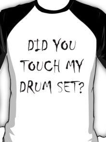 Drum Set Black T-Shirt