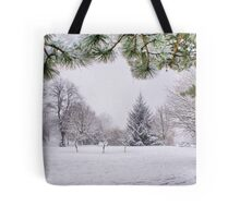 White And Wintery At Peel Park, Bradford Tote Bag