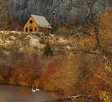 OLD STONE BUTTER CHURCH by Sandy Stewart