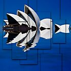 Sydney Opera House collage by Sheila  Smart
