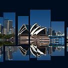 Sydney Harbour collage by Sheila  Smart