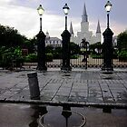 St. Louis Cathedral with Reflection by UncleBug