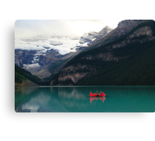 Red canoes (HDR) Canvas Print