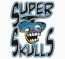 super skulls logo tshirt by tron2010 by tron2010