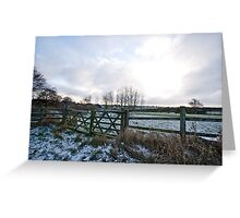 Yorkshire snow scene Greeting Card