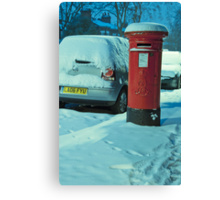 Cold Letters, Warm Heart: Snowy Letterbox Canvas Print