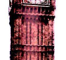 Psychedelic Clock Tower Ben.. by Debbie Westerman