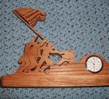 Iwo Jima mini desk clock by FineCrafts