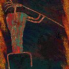 Rock Art - Flute Player by Sena