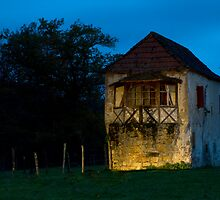 Abandoned Stone House By The River (Lightpainting) by A.M. Ruttle