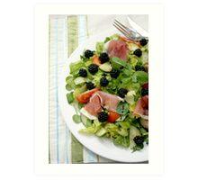 Blackberry Prosciutto Salad Art Print