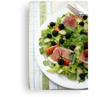 Blackberry Prosciutto Salad Canvas Print