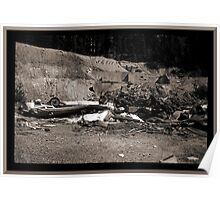 Mine Debris With Smashed Bus Poster