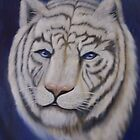 Portrait of a White Tiger by Tatiana Mavric