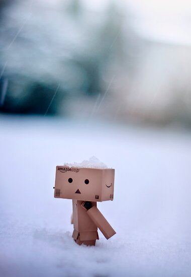 Danbo In The Snow by Lady-Tori