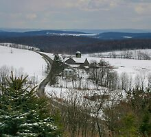 Pennsylvania Farmland Under A Blanket Of Snow by Gene Walls