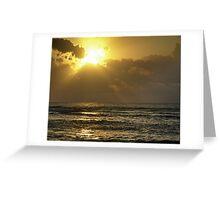 Sunrise over the Caribbean Greeting Card