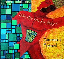 Creative Freedom Banner Design for Who Are You To Judge Artist Group on Redbubble by Cara Schingeck