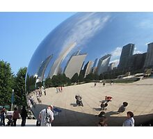 "Reflected in ""The Bean"" Photographic Print"