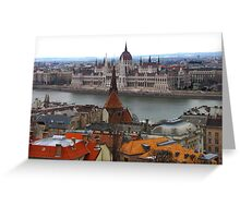 Budapest in February Greeting Card