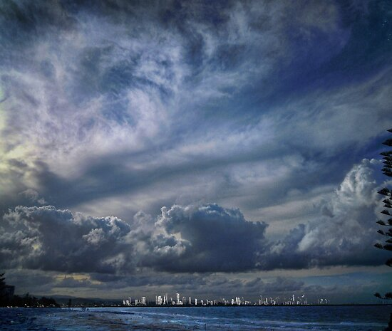 gold coast skyline by carol brandt