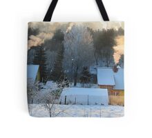 Santa Claus house in LITHUANIA Tote Bag