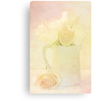 Marshmallow Roses Canvas Print