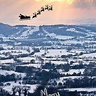 Santa over Herefordshire! by Rachel Lilly