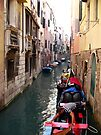 After the Rain ~ Gondoliers of Venice by Lucinda Walter