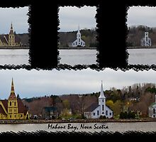 Three Churches Of Mahone Bay by Atlantic Dreams
