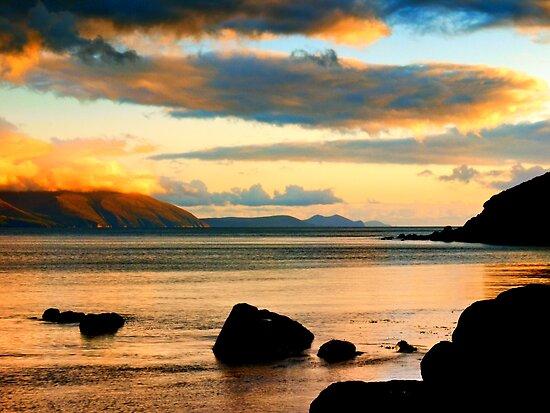 Evening sunlight in Dingle Bay by Julian Easten