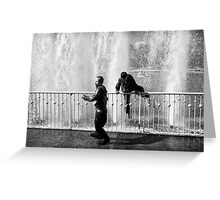 In the fountain6 Greeting Card