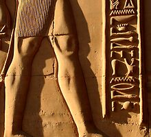 Relief Carving and Cartouche in Kom Ombo Temple by Laurel Talabere