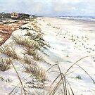 Morning Shadows on the Beach by Kate Eller