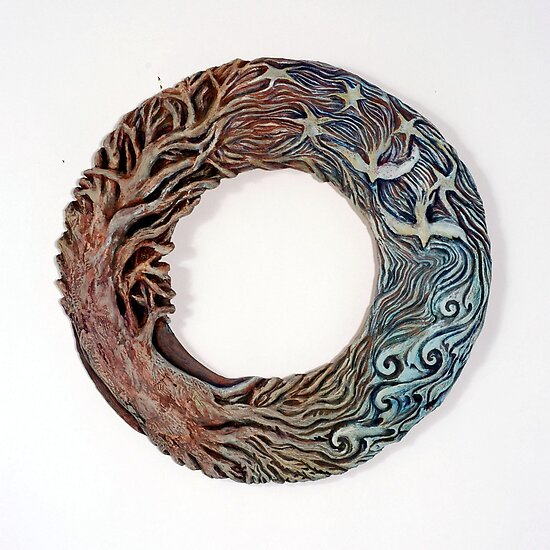 Mandala Solstice Wreath by Mona Shiber