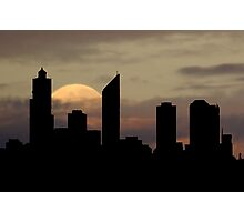 Moonlight Over Perth City Photographic Print
