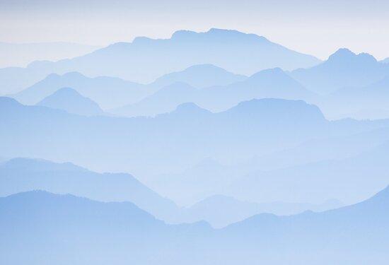 Blue Dawn - Julian Alps in Slovenia by toonartist