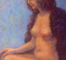 Girl in a fur coat by Julia Lesnichy