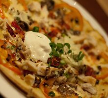 Chicken & Bacon - Gourmet Pizza by Gillian Berry